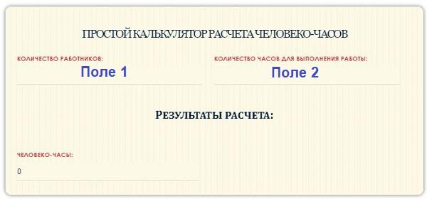 Онлайн калькулятор для расчета человеко-часов - примеры и формулы