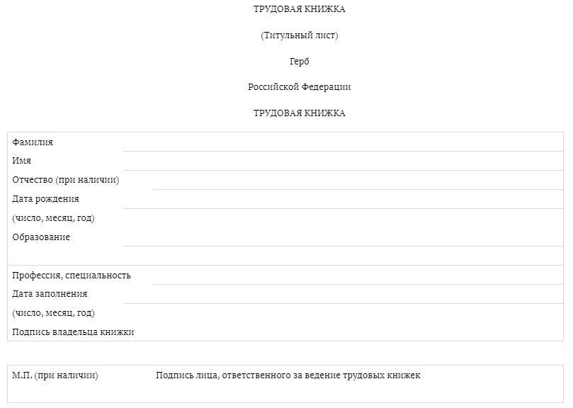 Новые правила ведения, хранения и заполнения трудовых книжек с 1 сентября 2021 года - таблица изменений